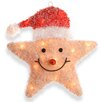National Tree Co. Smiling Star with Hat Christmas Decoration