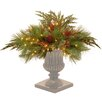 """National Tree Co. Decorative Prelit 30"""" White Pine Urn Artificial Tree Filling"""