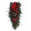 """National Tree Co. Decorative Pre-Lit 36"""" Hydrangea Teardrop with 50 Battery-Operated White LED Lights"""