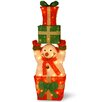 National Tree Co. Pre-Lit Snowman Holding Gifts Christmas Decoration