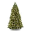 National Tree Co. Dunhill Fir 10' Hinged Green Artificial Christmas Tree with 1200 Clear Lights