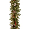 "National Tree Co. Pre-Lit 9' x 10"" Frosted Berry Garland"