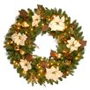 "National Tree Co. Pre-Lit 36"" Inspired by Nature Wreath"