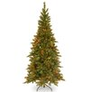 National Tree Co. Tiffany Fir 7.5' Green Artificial Christmas Tree with 550 Multi Colored Lights and Stand