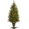 National Tree Co. Dunhill Fir 4.5' Green Artificial Christmas Tree 100 Clear Lights