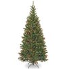 National Tree Co. Aspen Spruce 7' Hinged Green Artificial Christmas Tree with 400 Multicolored Lights
