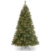 National Tree Co. Atlanta Spruce 7.5' Green Artificial Christmas Tree with 550 Pre-Lit Clear Lights with Stand
