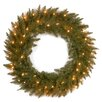 """National Tree Co. Dunhill Fir Pre-Lit 30"""" Wreath with 50 Clear Lights"""