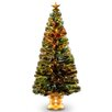 National Tree Co. Fiber Optic Radiance Fireworks 5' Green Artificial Christmas Tree