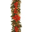 "National Tree Co. Pre-Lit 9' x 12"" Home Spun Garland"