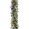 National Tree Co. Feel Real Liberty Pine Pre-Lit Garland with 50 Clear Lights