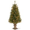 National Tree Co. Atlanta Spruce 4' Green Artificial Entrance Christmas Tree with 100 Clear Lights