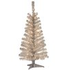 <strong>4' Silver Artificial Christmas Tree with 70 Clear Lights and Stand</strong> by National Tree Co.