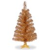 National Tree Co. 2' Champagne Artificial Christmas Tree with Stand