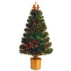 "National Tree Co. Evergreen Fiber Optic Firework 2' 8"" Multicolor Artificial Christmas Tree with Multicolor Light"