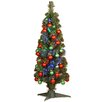 National Tree Co. Fiber Optic 3' Green Firework Artificial Christmas Tree with LED Multi Light and Stand