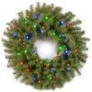 <strong>Norwood Fir Pre-Lit Wreath with 50 Battery-Operated LED Changing Co...</strong> by National Tree Co.