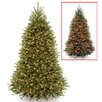 National Tree Co. Dunhill 7.5' Hinged Green Fir Artificial Christmas Tree with 700 Dual LED and Stand