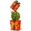 National Tree Co. Pre-Lit Gift Box Tower Christmas Decoration