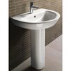 City Modern Curved Pedestal Sink