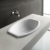<strong>GSI Collection</strong> Losagna Oval Stylish Ceramic Self Rimming Bathroom Sink without Overflow