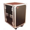 "Tour Wood Flight 24"" Deep Audio Road Rack Case with Casters"