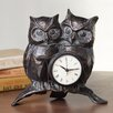 <strong>Nighttime Love Owl Pair Clock</strong> by SPI Home