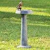 SPI Home Aluminum Thirsty Squirrel Garden Fountain