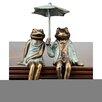 SPI Home 2 Piece Sophisticated Frog Shelf Sitters Garden Statue Set