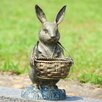 SPI Home Bunny Butler with Basket Statue