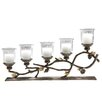 <strong>Pinecone Aluminum and Glass Candelabra</strong> by SPI Home