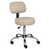 <strong>Boss Office Products</strong> Height Adjustable Doctor's Stool with Back Cushion