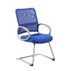 Boss Office Products Mesh Back Guest Chair with Loop Arm