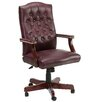 Boss Office Products Traditional High Back Italian Leather Office Chair