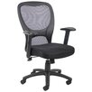<strong>High-Back Mesh Task Chair with Adjustable Arms</strong> by Boss Office Products