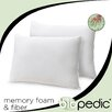 <strong>BioPEDIC</strong> Memory Plus Classic Memory Foam and Fiber Pillows (Set of 2)