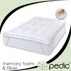 <strong>BioPEDIC</strong> Memory Plus Deluxe Memory Foam and Fiber Bed Topper with Anchor Bands