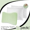 <strong>BioPEDIC</strong> Memory Plus Quilted Pillow with GEL Memory Foam and Fiber (Set of 2)