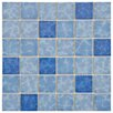 "EliteTile Pool 2"" x 2"" Porcelain Glazed Mosaic in Aegean"
