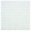 EliteTile Sierra Random Sized Polished Glass Mosaic in Versailles Ice White