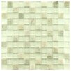 "EliteTile Sierra 7/8"" x 7/8"" Polished Glass and Stone Square Mosaic in Ming"