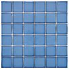 EliteTile Pool Porcelain Mosaic in Cerulean (Set of 10)