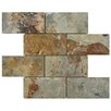 EliteTile Peak Natural Stone Mosaic Tile in Multi