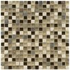 "<strong>EliteTile</strong> Sierra 5/8"" x 5/8"" Polished Glass and Stone Mini Mosaic in Nassau"