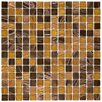 "EliteTile Fused 3/4"" x 3/4"" Glass Polished Mosaic in Amber"