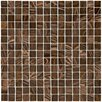 "EliteTile Fused 3/4"" x 3/4"" Glass Polished Mosaic in Brown and Gold"