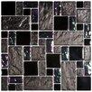 EliteTile Eden Random Sized Polished Glass and Stone Versailles Mosaic in Iris