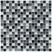 "EliteTile Sierra 5/8"" x 5/8"" Polished Glass Mini Mosaic in Night"