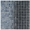"<strong>Sable 5/8"" x 5/8"" Polished Glass Mini Mosaic in Black Mirror</strong> by EliteTile"