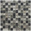 "Abbey 12"" x 12"" Unpolished Natural Stone and Metal Mosaic in Fauna Verde"